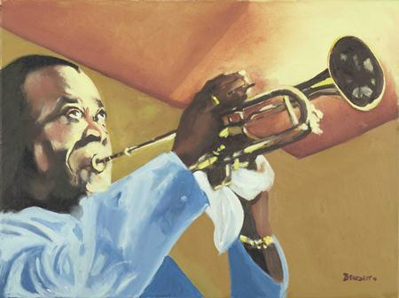 Louis Armstrong Painting by Tony Bennett