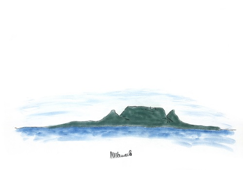 Table Mountain, drawing by Nelson Mandela